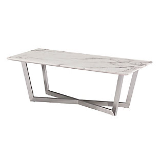 Faux Marble Coffee Table, , large