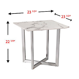 Faux Marble End Table, , large