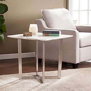 Faux Marble End Table, , rollover