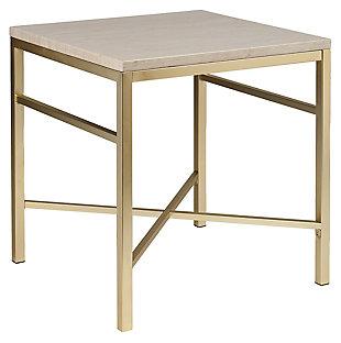 Stone Veneer End Table, , large