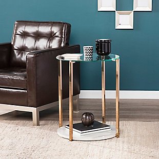 Glass End Table, , rollover