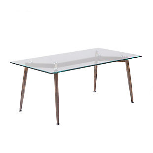 Beveled Glass Top Coffee Table, , large