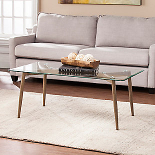 Beveled Glass Top Coffee Table, , rollover