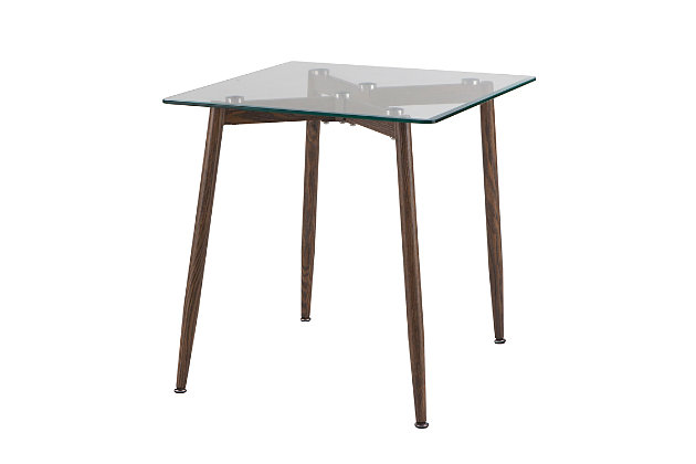 Beveled Glass Top End Table, , large