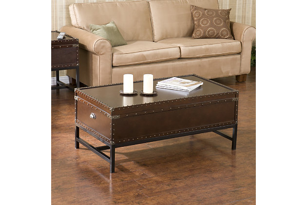 Antique Finish Coffee Table, , large