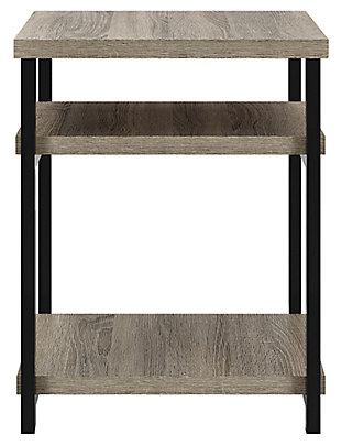Gray Oak Finish Ray Ridge End Table, , large