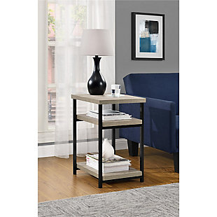 Gray Oak Finish Ray Ridge End Table, , rollover