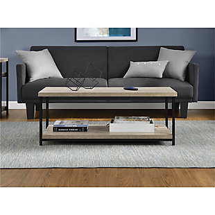 Gray Oak Finish Ray Ridge Coffee Table, , large