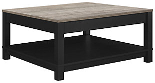 Square Kadin Coffee Table, Black, large