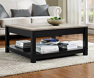 Square Kadin Coffee Table, Black, rollover