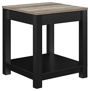 Square Kadin End Table, Black, large
