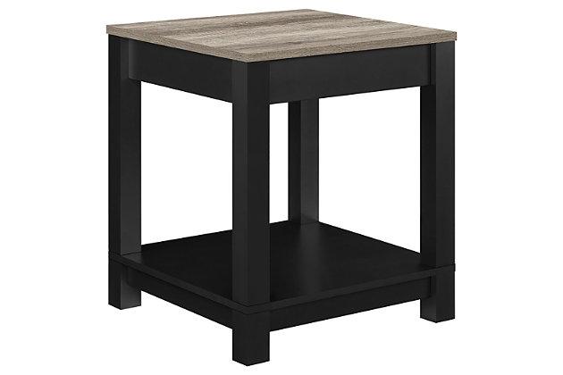 Square Kadin End Table, Black, large