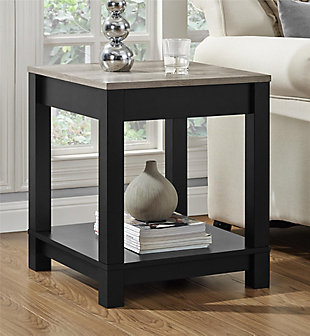 Square Kadin End Table, Black, rollover