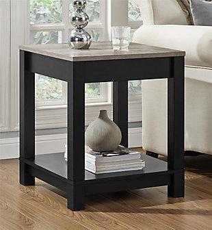 Square Kadin End Table, Black, rollover