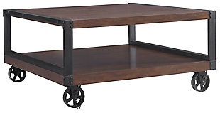 Wood Veneer Rosebury Coffee Table, , large