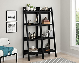 Ladder Lehigh 4 Shelf Bookcase Bundle, , rollover
