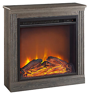 Slender Winnie Electric Fireplace, Medium Brown, large
