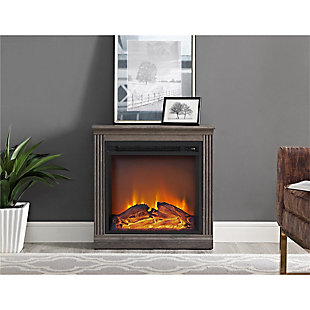Slender Winnie Electric Fireplace, Medium Brown, rollover