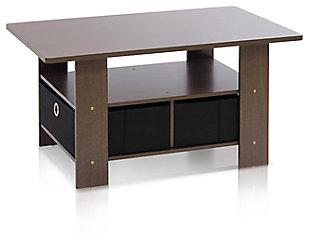 Espresso Finish Andrey Coffee Table with Bin Drawer, , large
