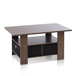 Espresso Finish Andrey Coffee Table with Bin Drawer, , rollover