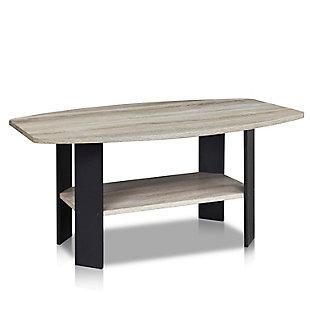 Oak Grey Finish Simple Design Coffee Table, , rollover