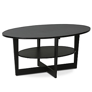 Walnut Finish JAYA Oval Coffee Table, , rollover