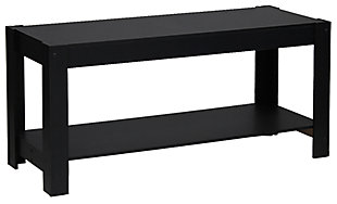 Black Parsons Entertainment Center TV Stand/Coffee Table, , large