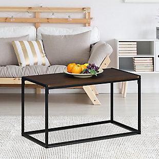 Dark Walnut Finish Modern Coffee Table, , rollover