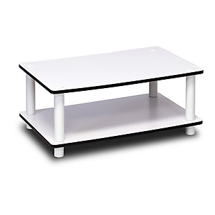 White Just 2-Tier No Tools Coffee Table, , rollover