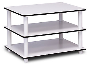 White Just 3-Tier No Tools Coffee Table, , large