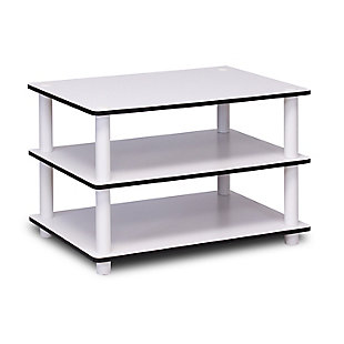 White Just 3-Tier No Tools Coffee Table, , rollover