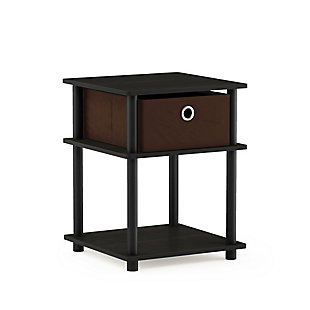 Espresso Finish Turn-N-Tube 3-Tier End Table with Storage Bin, , rollover