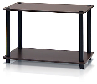 Brown and Black Turn-N-Tube 2-Tier No Tools Tube Shelf End Table, , large