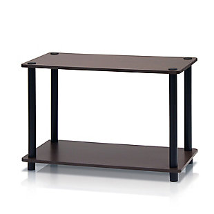 Brown and Black Turn-N-Tube 2-Tier No Tools Tube Shelf End Table, , rollover