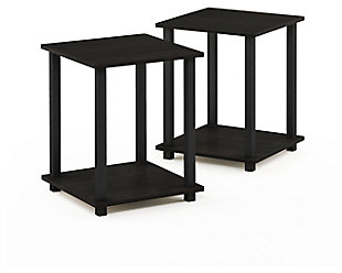 Espresso Finish Simplistic End Table (Set of Two), , large