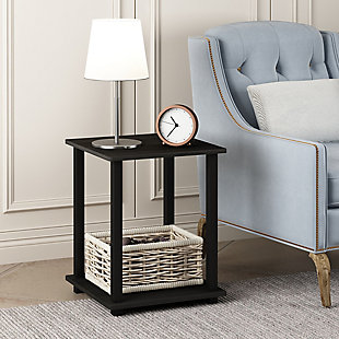 Espresso Finish Simplistic End Table (Set of Two), , rollover