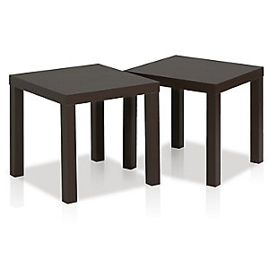Espresso Finish Classic Cubic End Table (Set of 2), , rollover
