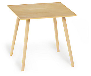 Oak Finish Theo Side Table, , large