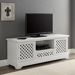 Traditional Mason TV Cabinet White, , rollover