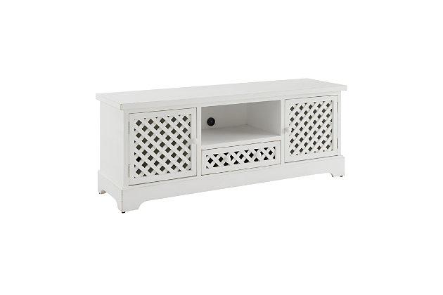 Traditional Mason TV Cabinet White, , large