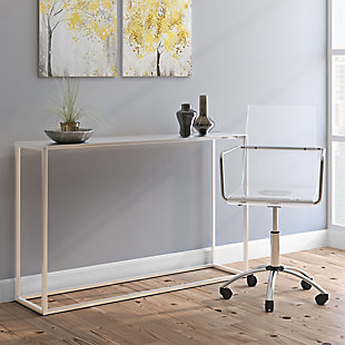 """Montclair Montclair 48"""" Console Table in Brushed Aluminum, , rollover"""