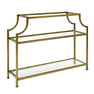 Crosley Aimee Console Table, Gold, large