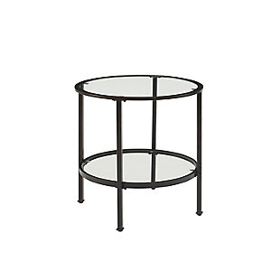 Crosley Aimee End Table, Bronze, rollover