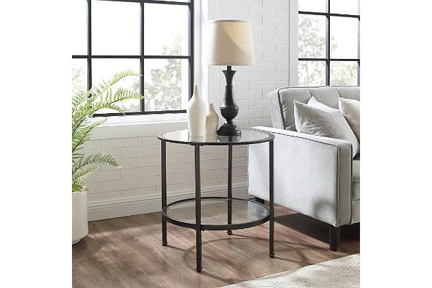 Crosley Aimee End Table, Bronze, large
