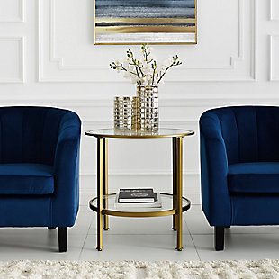 Crosley Aimee End Table, Gold, large