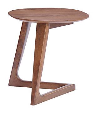ZUO Modern Park West Side Table Walnut, , rollover