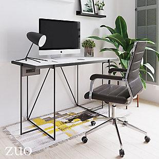 ZUO Modern Winslett Desk White and Matte Black, , rollover