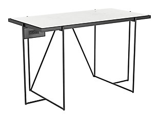 ZUO Modern Winslett Desk White and Matte Black, , large