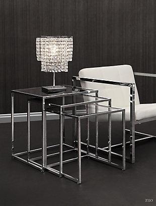 ZUO Modern Pasos Nesting Tables Chrome, , rollover