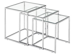 ZUO Modern Pasos Nesting Tables Chrome, , large